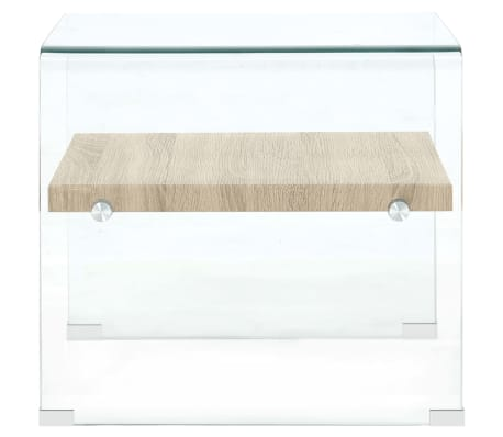 vidaXL Kavos staliukas, skaidrus, 53x50x45cm, grūdintas stiklas[4/5]
