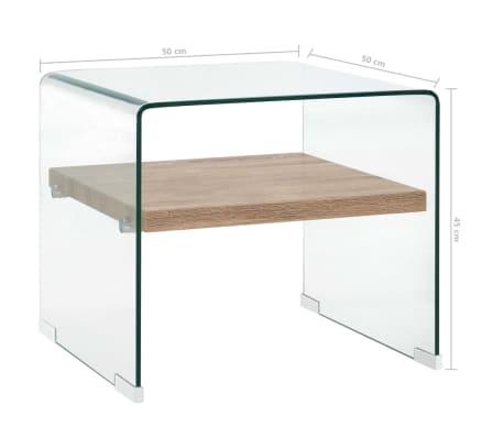 vidaXL Kavos staliukas, skaidrus, 53x50x45cm, grūdintas stiklas[5/5]