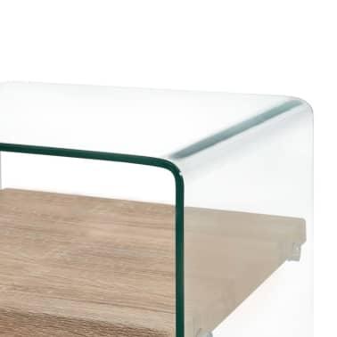 vidaXL Kavos staliukas, skaidrus, 53x50x45cm, grūdintas stiklas[3/5]