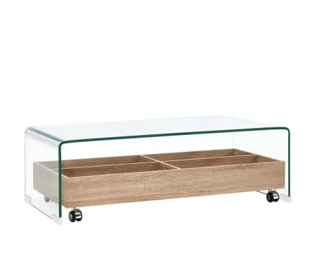 vidaXL Coffee Table Clear 98x45x31 cm Tempered Glass
