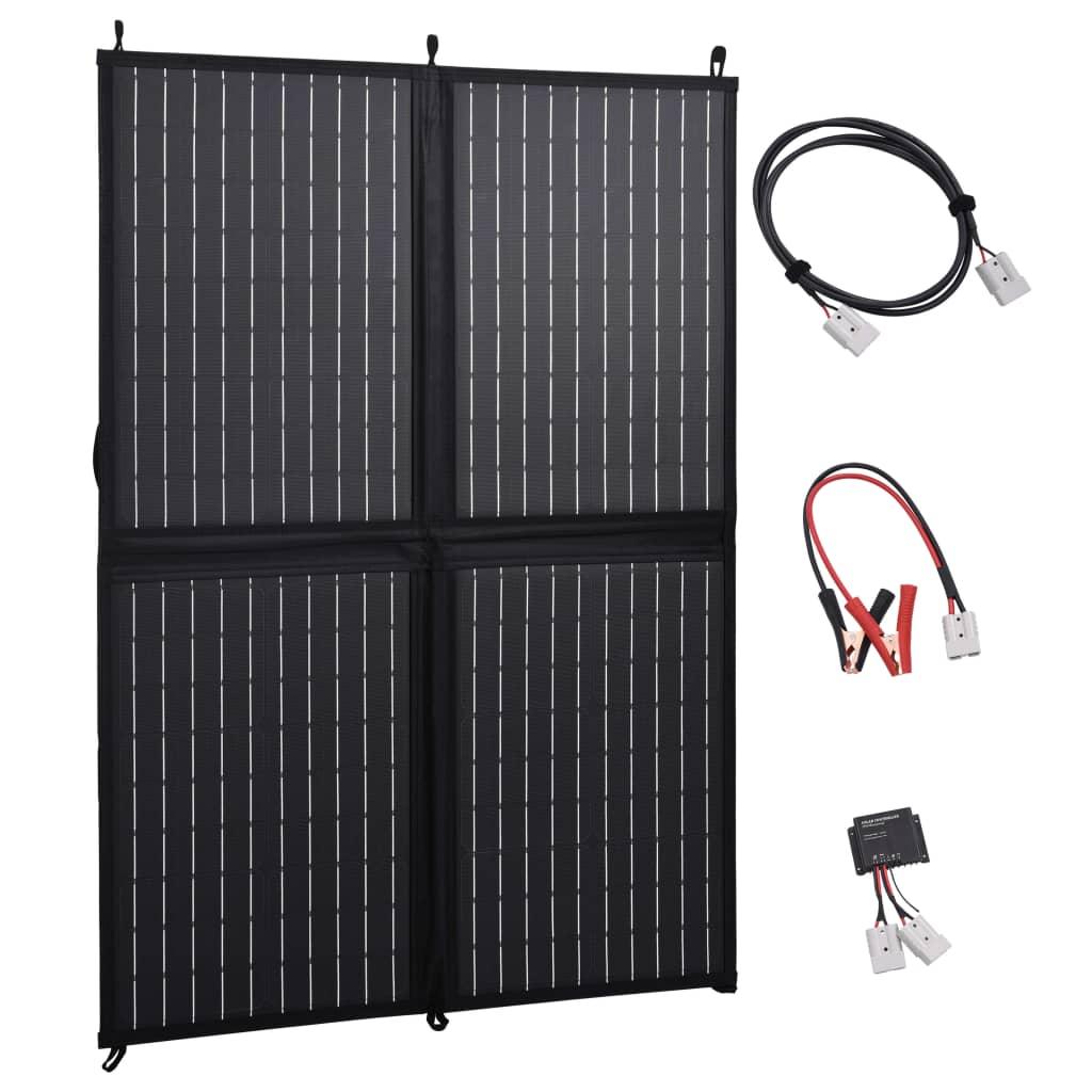 vidaXL Skládací solární nabíječka 100 W 12 V