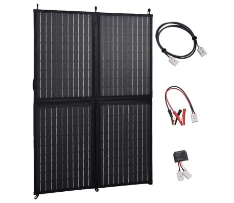 vidaXL Sulankstomos saulės energijos plokštės įkroviklis, 100W, 12V[1/10]