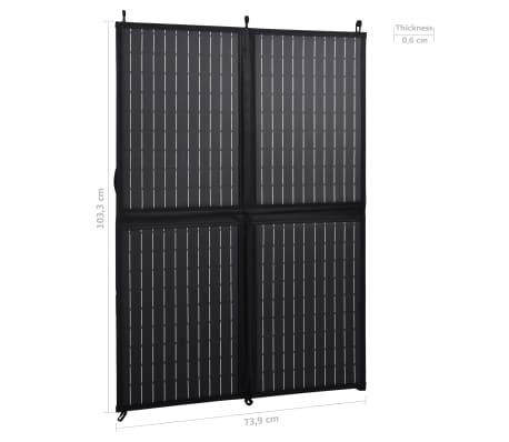 vidaXL Sulankstomos saulės energijos plokštės įkroviklis, 100W, 12V[9/10]