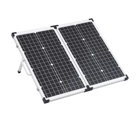 vidaXL Maletín con panel solar plegable 60 W 12 V