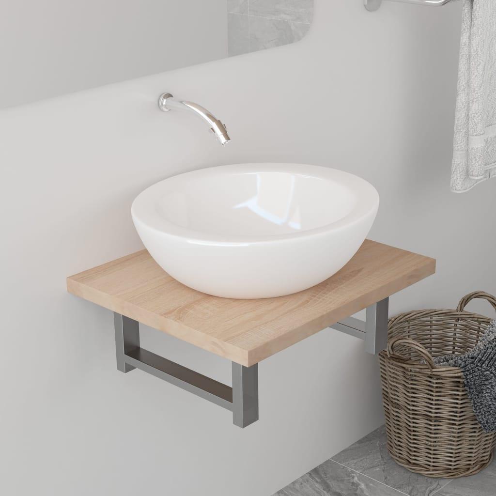 vidaXL Koupelnový nábytek dub 40 x 40 x 16,3 cm