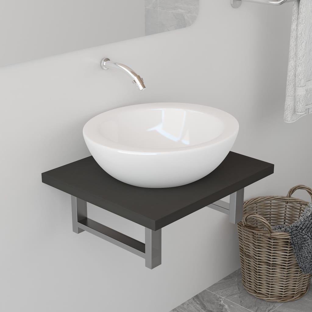 vidaXL Koupelnový nábytek šedý 40 x 40 x 16,3 cm