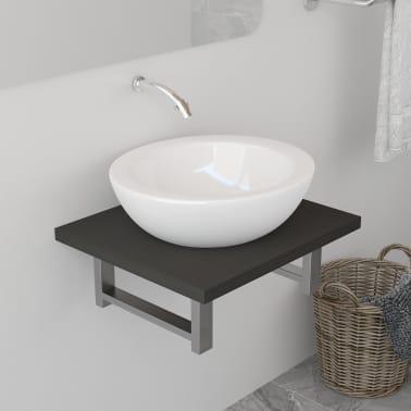 vidaXL Vonios kambario baldas, pilkas, 40x40x16,3cm[1/8]