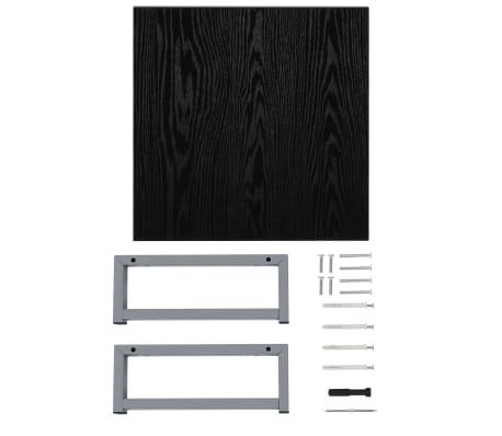 vidaXL Vonios kambario baldas, juodas, 40x40x16,3cm[7/8]
