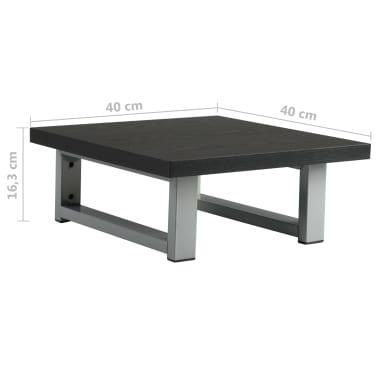 vidaXL Vonios kambario baldas, juodas, 40x40x16,3cm[8/8]