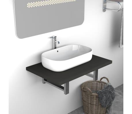 vidaXL Vonios kambario baldas, pilkas, 60x40x16,3cm[1/9]