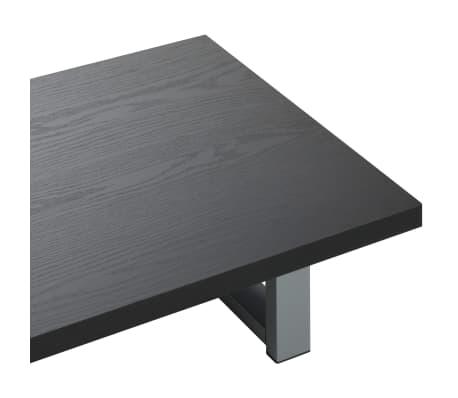 vidaXL Vonios kambario baldas, juodas, 60x40x16,3cm[5/9]