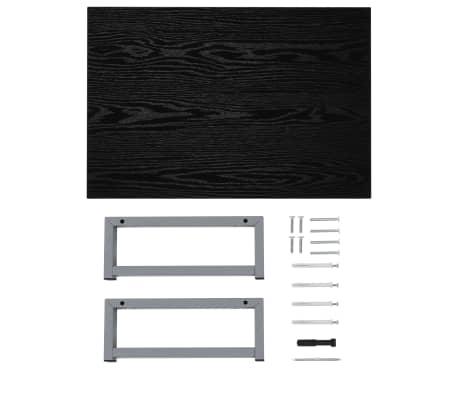 vidaXL Vonios kambario baldas, juodas, 60x40x16,3cm[8/9]