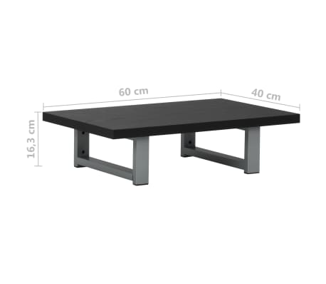vidaXL Vonios kambario baldas, juodas, 60x40x16,3cm[9/9]
