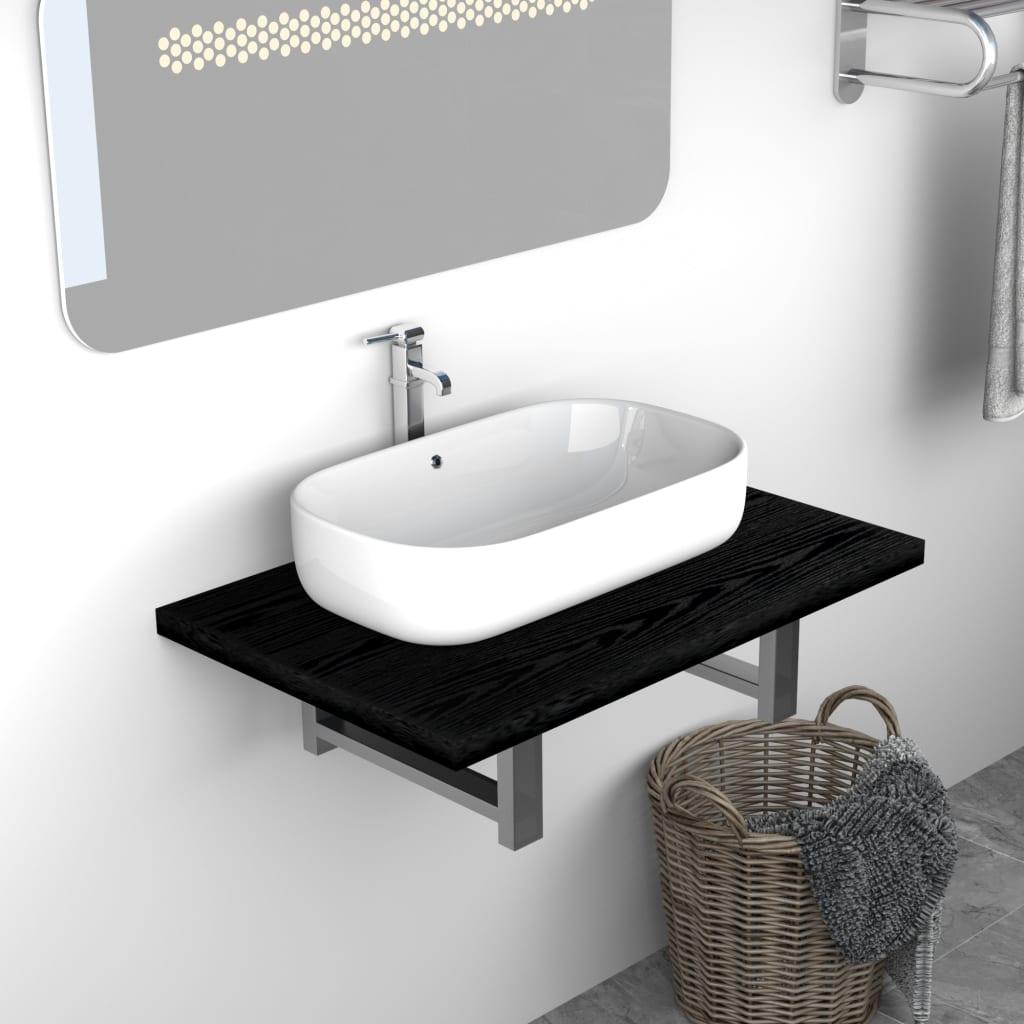 Koupelnový nábytek černý 60 x 40 x 16,3 cm