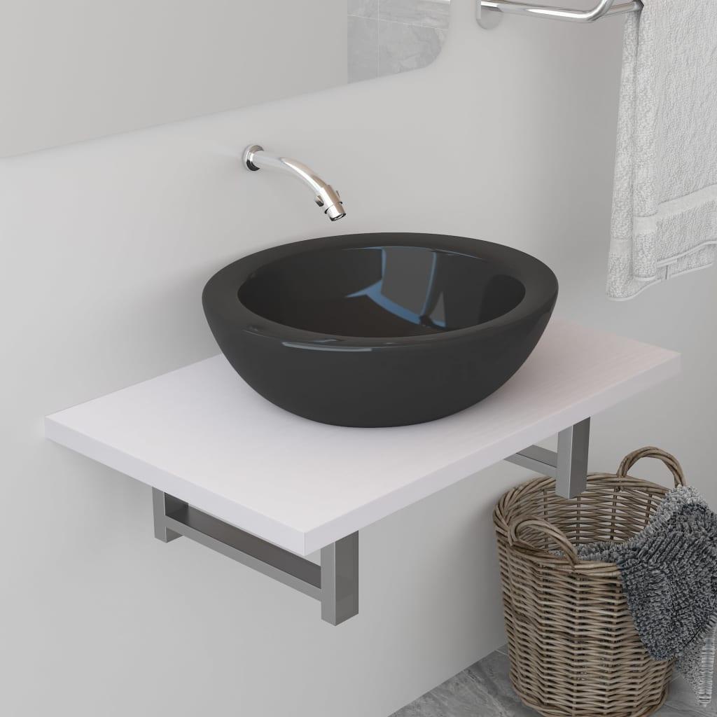 vidaXL Koupelnový nábytek bílý 60 x 40 x 16,3 cm
