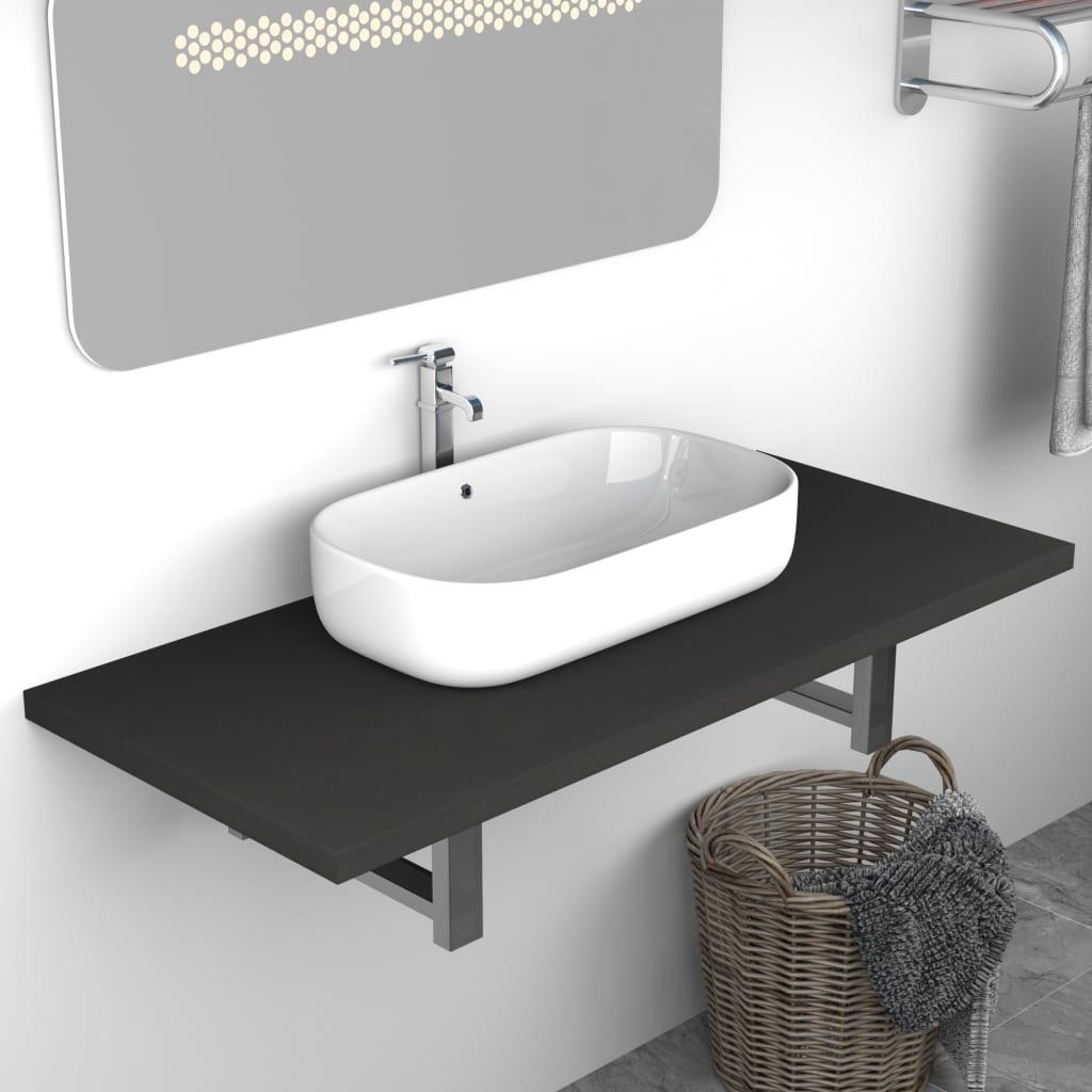 vidaXL Koupelnový nábytek šedý 90 x 40 x 16,3 cm