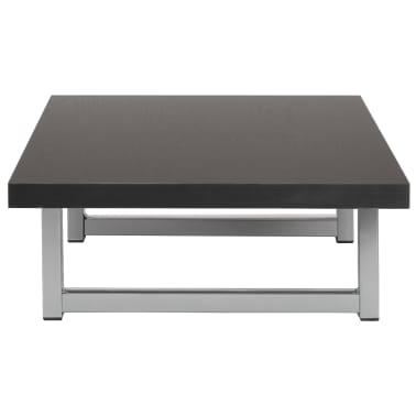 vidaXL Vonios kambario baldas, juodas, 90x40x16,3cm[3/9]
