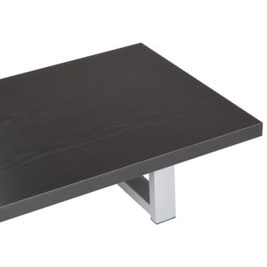 vidaXL Vonios kambario baldas, juodas, 90x40x16,3cm[6/9]