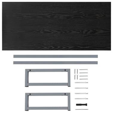 vidaXL Vonios kambario baldas, juodas, 90x40x16,3cm[8/9]