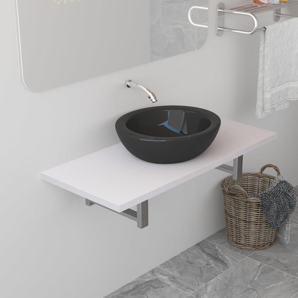 vidaXL Mobilier de baie, alb, 90 x 40 x 16,3 cm imagine vidaxl.ro