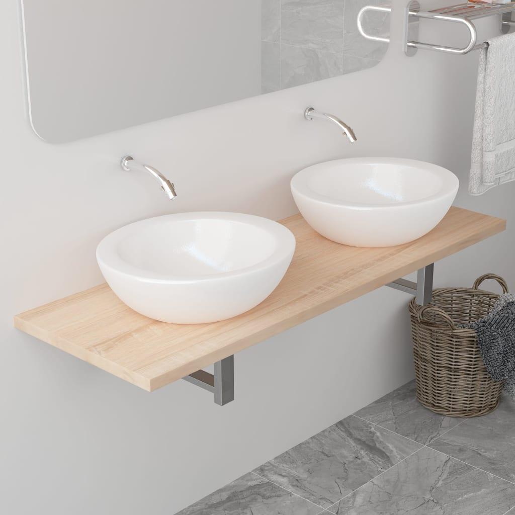 vidaXL Koupelnový nábytek dub 120 x 40 x 16,3 cm