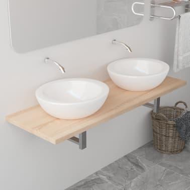 vidaXL Vonios kambario baldas, ąžuolo, 120x40x16,3cm[1/9]