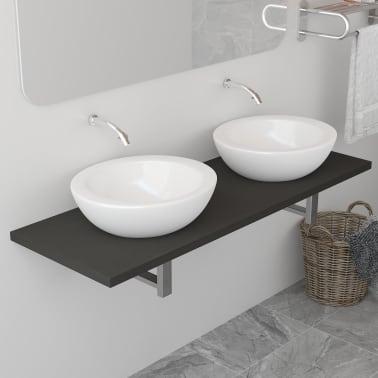 vidaXL Vonios kambario baldas, pilkas, 120x40x16,3cm[1/9]