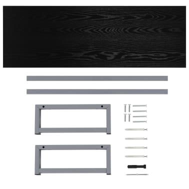 vidaXL Vonios kambario baldas, juodas, 120x40x16,3cm[8/9]