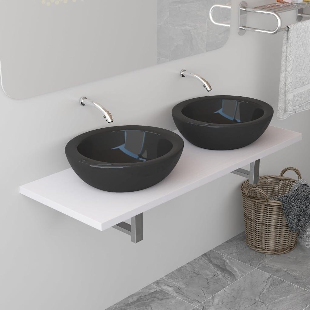 vidaXL Koupelnový nábytek bílý 120 x 40 x 16,3 cm