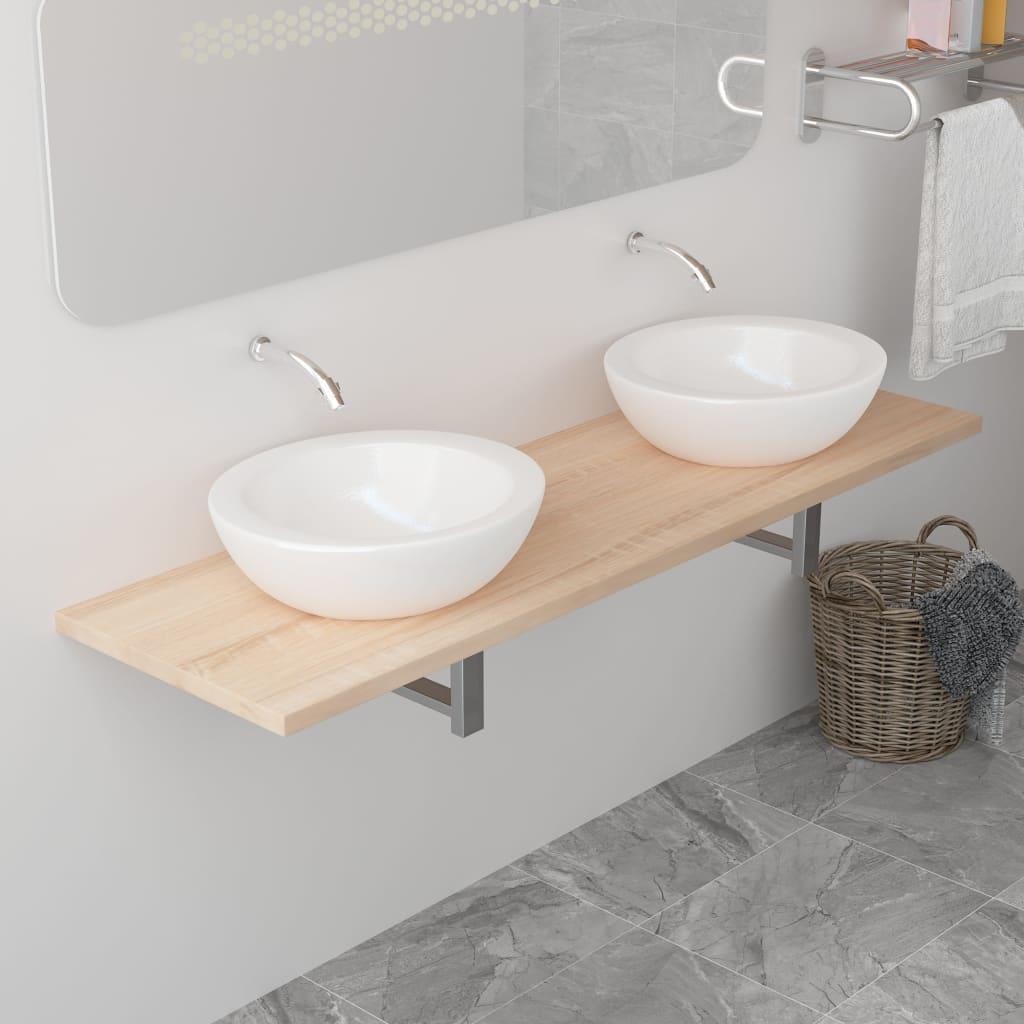 vidaXL Koupelnový nábytek dub 160 x 40 x 16,3 cm