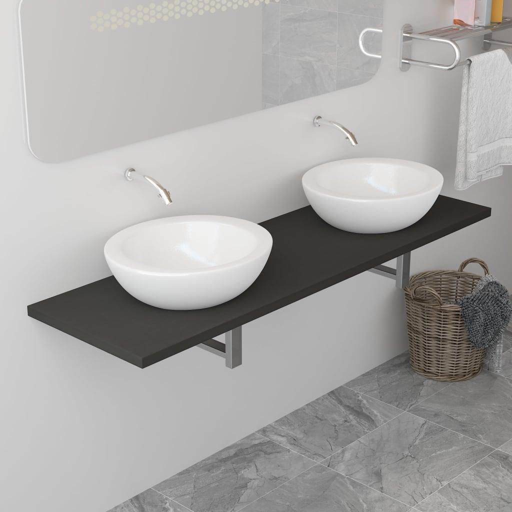 vidaXL Koupelnový nábytek šedý 160 x 40 x 16,3 cm