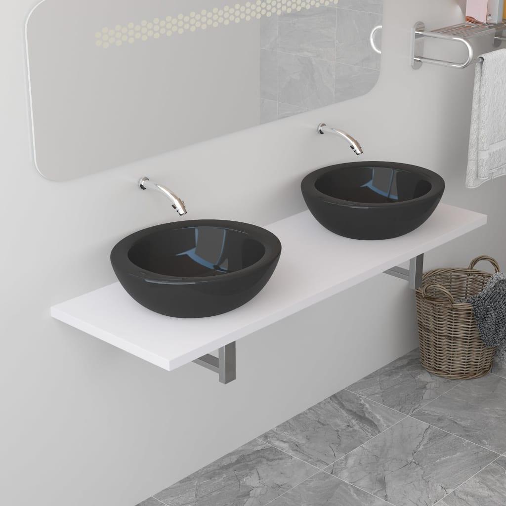 vidaXL Koupelnový nábytek bílý 160 x 40 x 16,3 cm