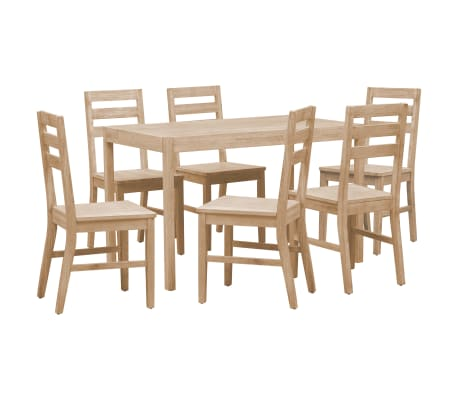 vidaXL 7 Piece Dining Set Solid Acacia Wood