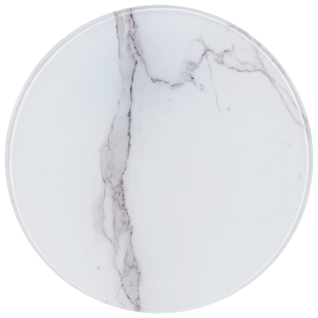 vidaXL Stolní deska bílá Ø 40 cm mramor