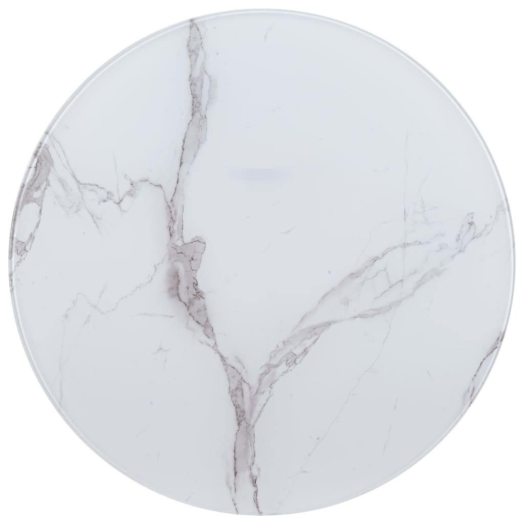 vidaXL Stolní deska bílá Ø 90 cm mramor
