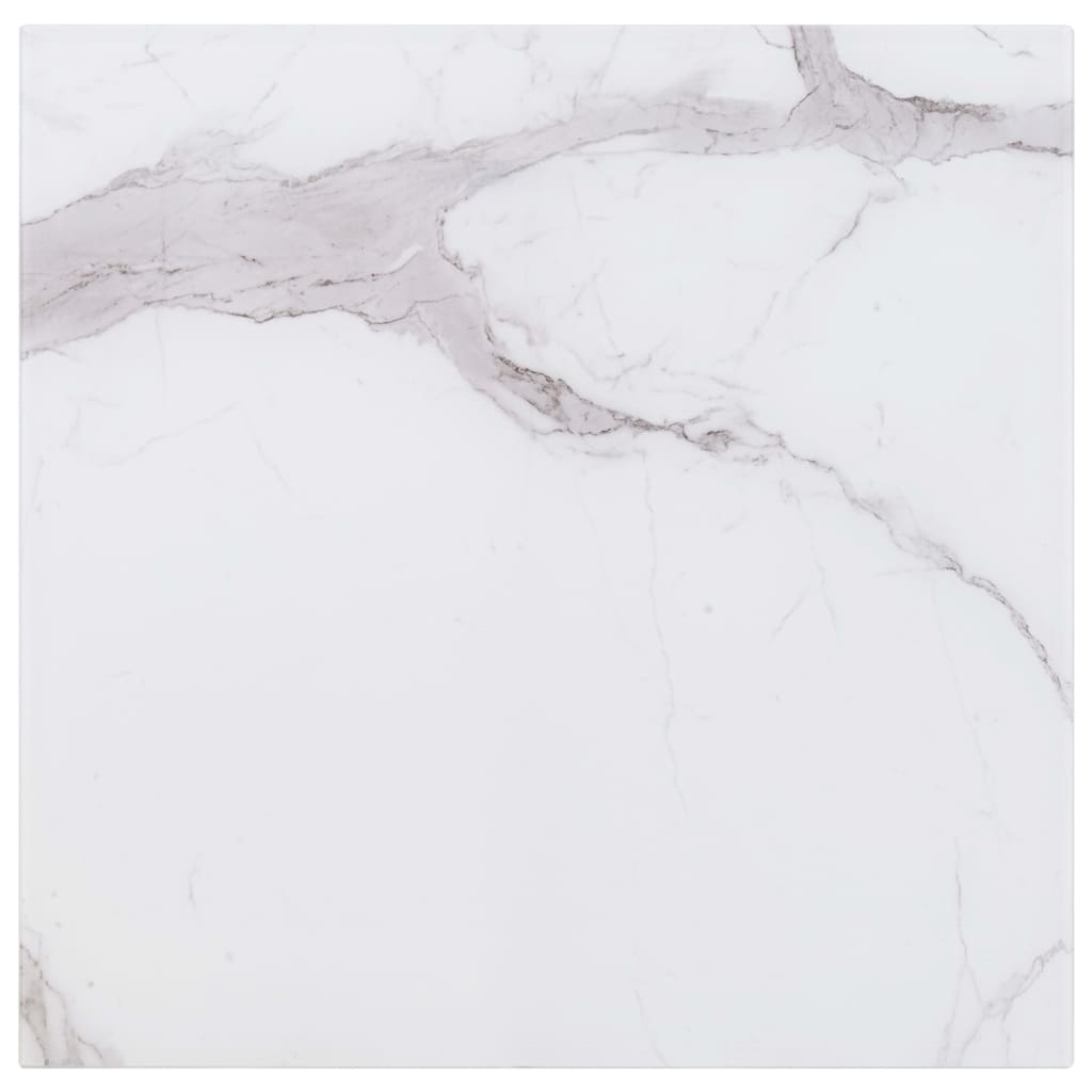 vidaXL Stolní deska bílá čtvercová 80 x 80 cm mramor