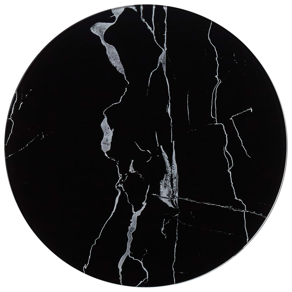 vidaXL Stolní deska černá Ø 40 cm mramor
