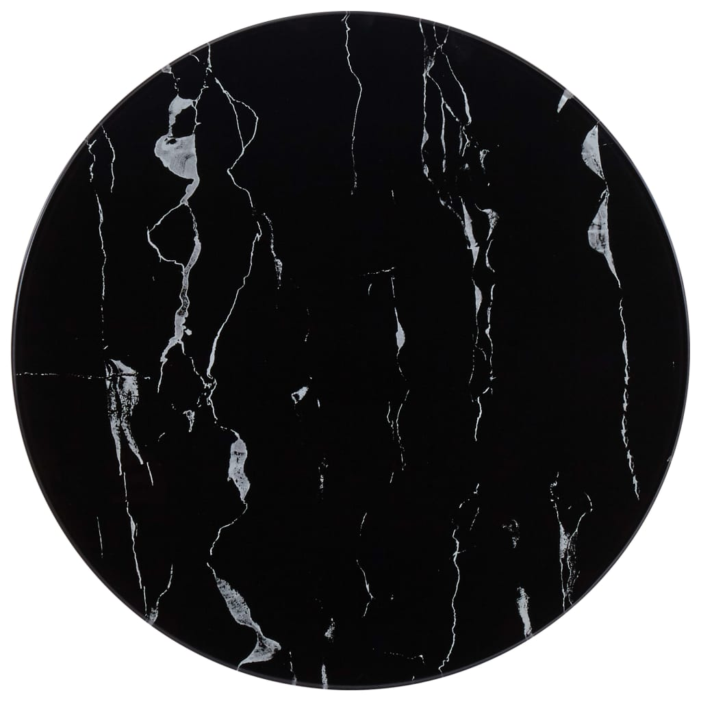 vidaXL Stolní deska černá Ø 50 cm mramor