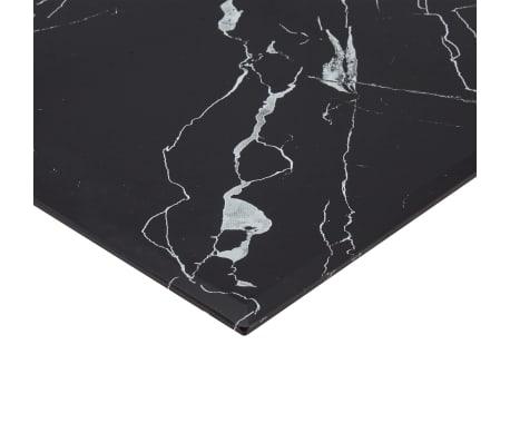 vidaXL Dessus de table Noir Rectangle 120x65 cm Verre et aspect marbre[3/6]