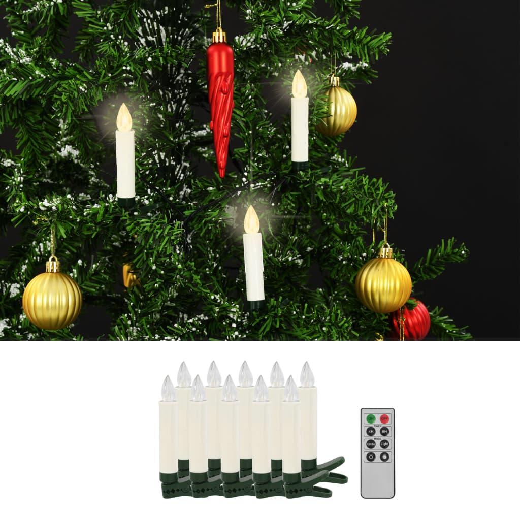 Bezdrátové LED svíčky s dálkovým ovládáním 10 ks teplé bílé
