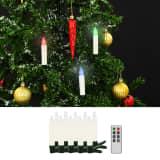 vidaXL Trådløse LED-julestearinlys med fjernkontroll 10 stk RGB