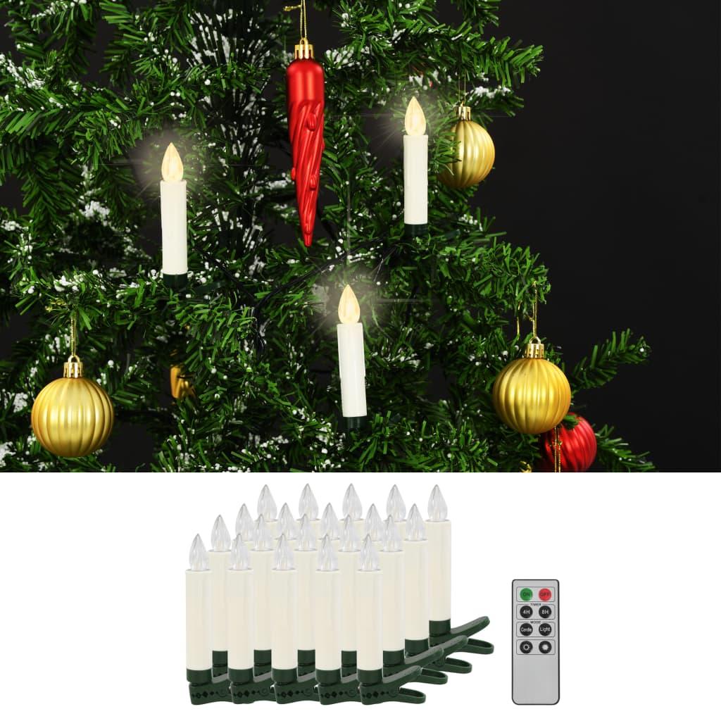 Bezdrátové LED svíčky s dálkovým ovládáním 20 ks teplé bílé