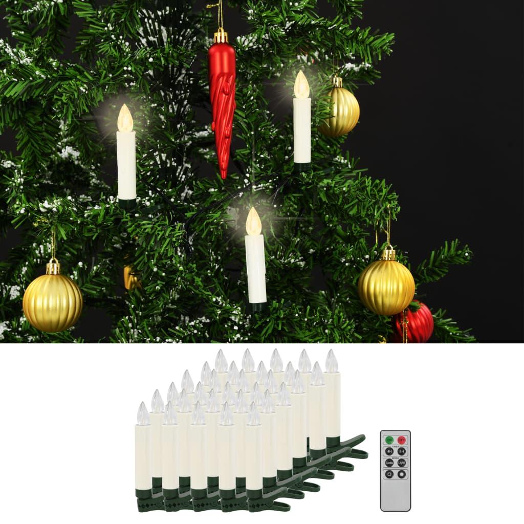 Bezdrátové LED svíčky s dálkovým ovládáním 30 ks teplé bílé