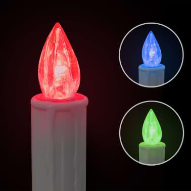 vidaXL Lumânări Crăciun LED wireless cu telecomandă 30 buc. RGB[4/8]