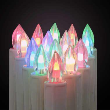 vidaXL Lumânări Crăciun LED wireless cu telecomandă 30 buc. RGB[5/8]