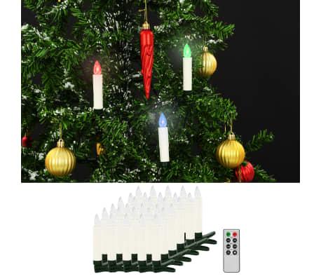 vidaXL Lumânări Crăciun LED wireless cu telecomandă 30 buc. RGB[1/8]