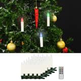 vidaXL Trådløse LED-julestearinlys med fjernkontroll 30 stk RGB