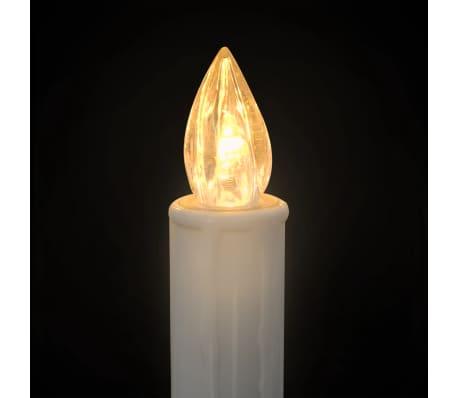 vidaXL Lumânări LED wireless cu telecomandă 50 buc. alb cald[4/8]