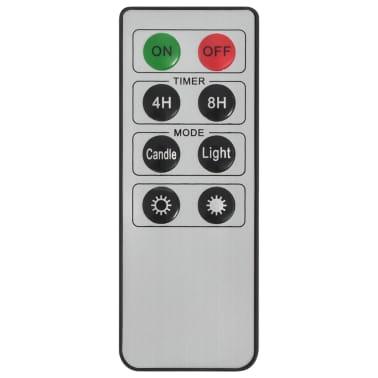 vidaXL Lumânări LED wireless cu telecomandă 50 buc. alb cald[7/8]