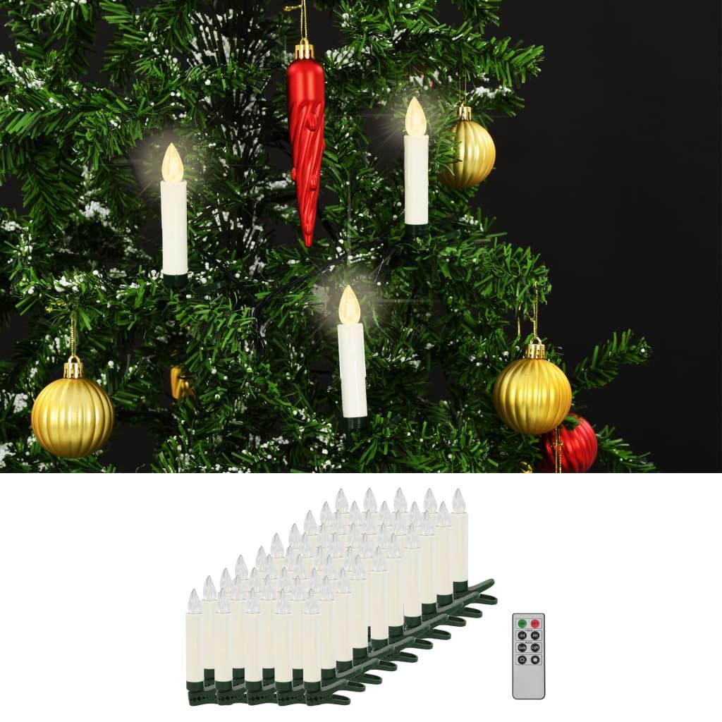 Bezdrátové LED svíčky s dálkovým ovládáním 50 ks teplé bílé